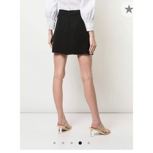 Reformation black skirt with slip size 0